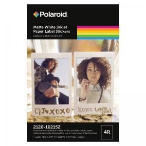 Polaroid Matte White Inkjet Stickers - 2120 Series